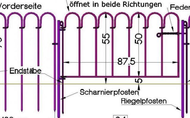 Teichzaun light-76 – 55 cm Aufbauhöhe