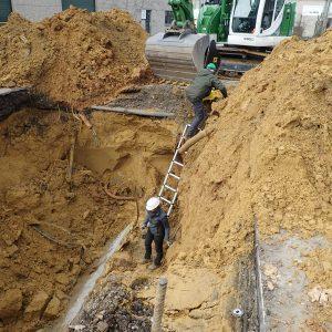 Die Bodenproben werden entnommen