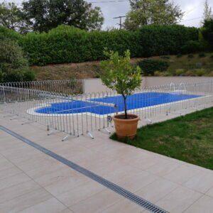 Clôture en acier à l'épreuve des enfants pour une piscine à domicile