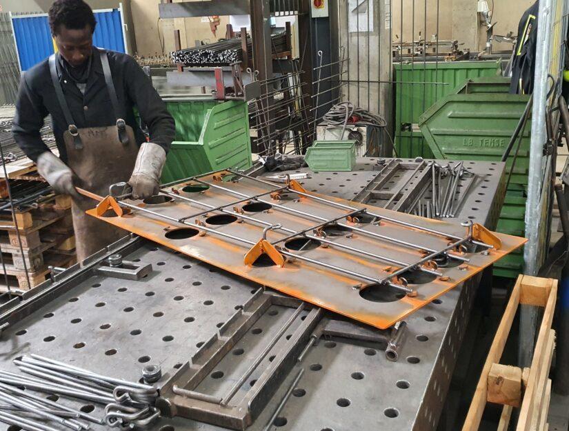 Les treillis muraux sont fabriqués par nos soins à Eupen (Belgique).