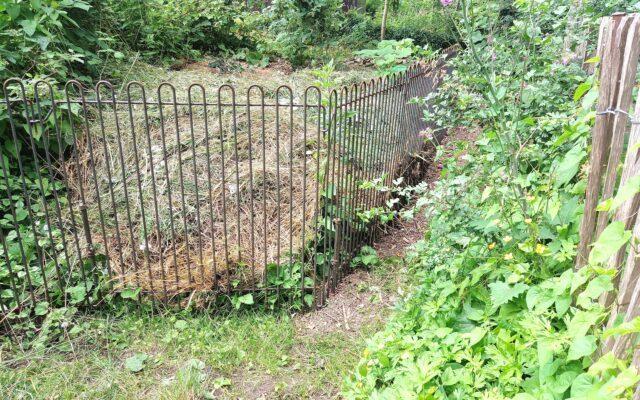 Gitter für den Rasenschnitt
