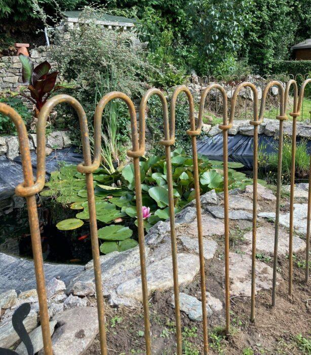 Clôture d'étang en acier rouillée « light-125-brut »