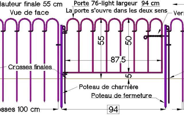 Clôture étang light-76 – hauteur 55 cm