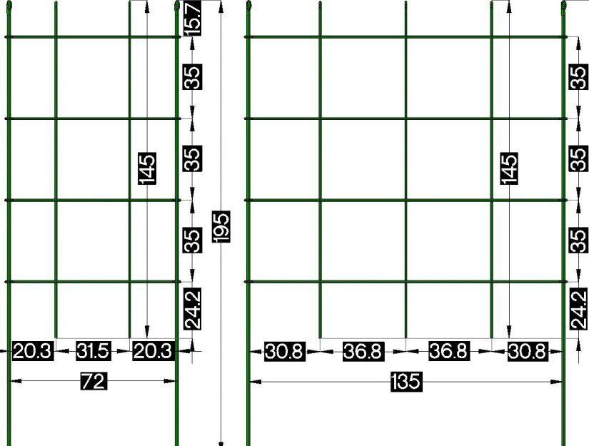 Gibt es 72 cm breit oder 135 cm breit, hier die Abmessungen.