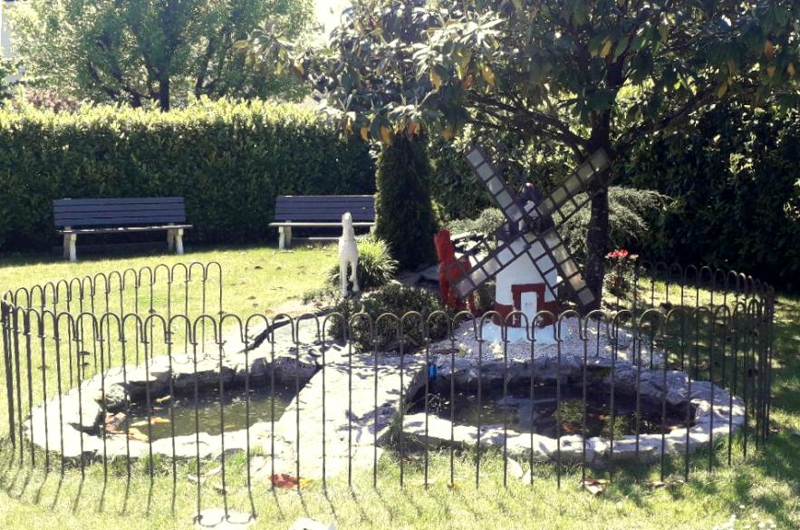 Ein meilabel-Zaun