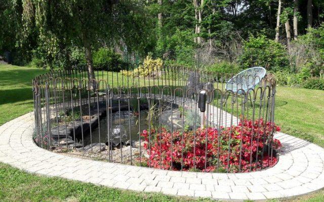 13 metres de clôtures 125 light brut + une porte étang