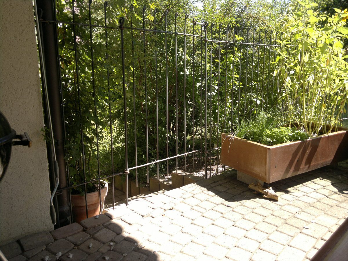 Abgrenzung Im Garten Für Einen Großen Hund Melabel Steckzäune
