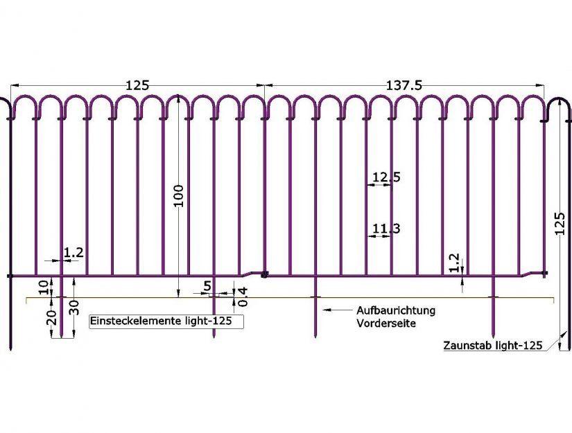 Länge der Elemente: 25, 37.5, 50, 62.5, 75, 87.5, 100, 112.5, 125, 137.5, 150, 162.5 oder 175 cm.