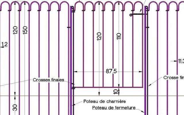 Clôture étang light-150 – hauteur 120 cm