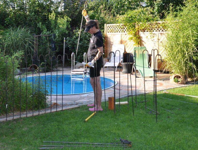 la clôture étang light peut être construite par n'importe qui.