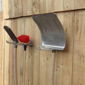 Doppelter Werkzeug und Schaufelhalter zum Anschrauben verzinkt