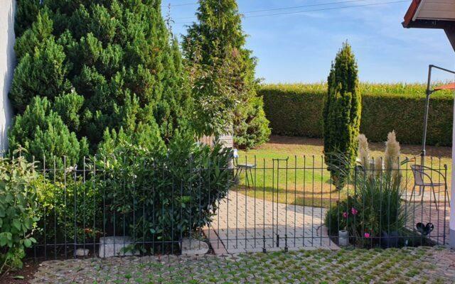 Gartenzaun aus Eisen mit Tor