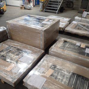melabel®-Steckzäune vor der Auslieferung