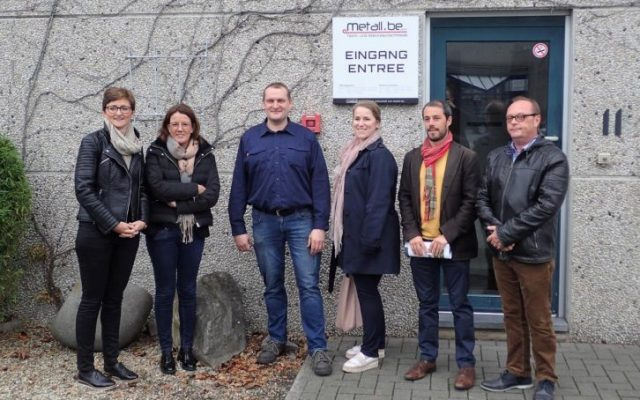 Betriebsbesuch Ministerin Weykmans bei METALL.BE