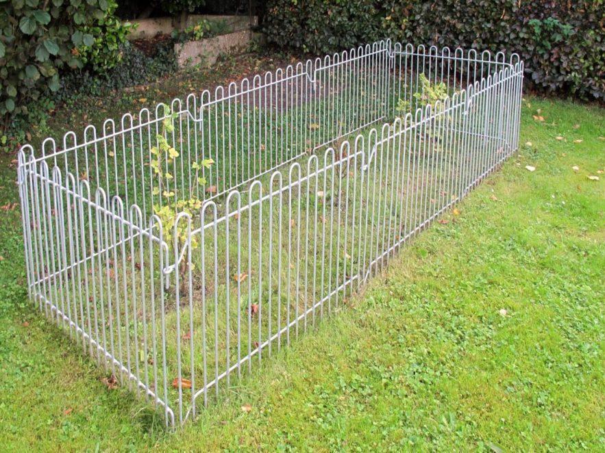 Kleintier-Zaun als Schutz der Obststräucher und Früchte im Garten