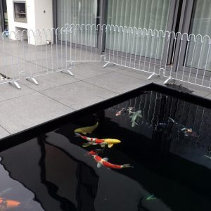 poolfix Stellzaun um ein Wasserbecken verzinkt (rostet nicht)
