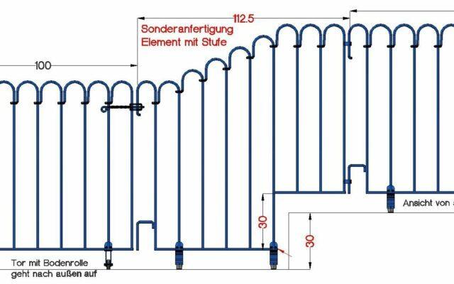 Barrière de piscine par-dessus les marches – réalisation spéciale