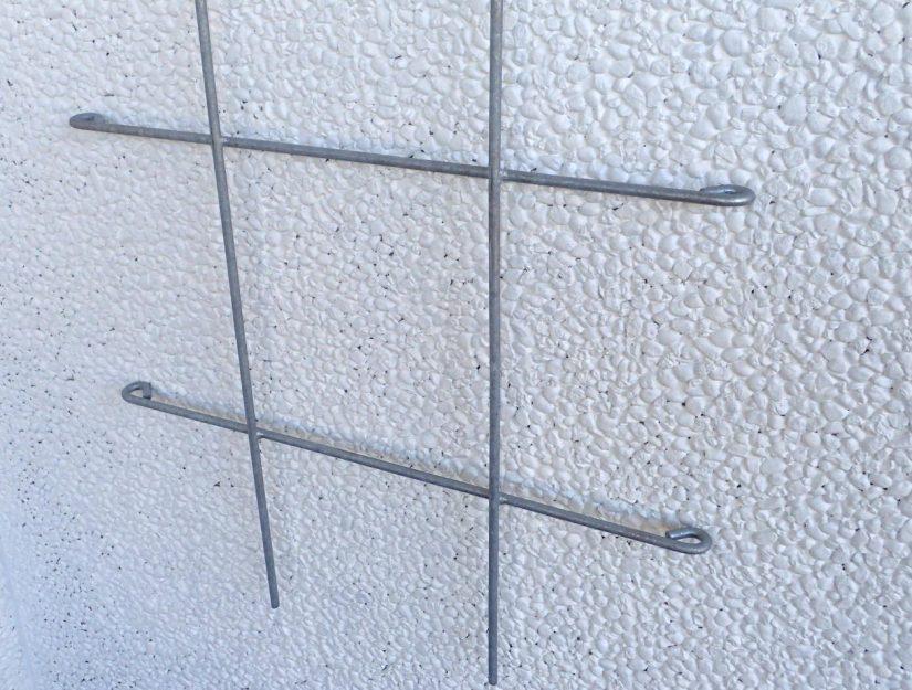 Untere Teilansicht vom Rankspalier 72 cm breit verzinkt (rostet nicht).