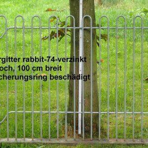 Kleintiergitter rabbit-74-verzinkt, 74 cm hoch, 100 cm breit, Loch Sicherungsring beschädigt