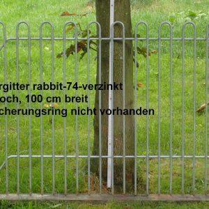 Kleintiergitter rabbit-74-verzinkt, 74 cm hoch, 100 cm breit, Loch Sicherungsring nicht vorhanden