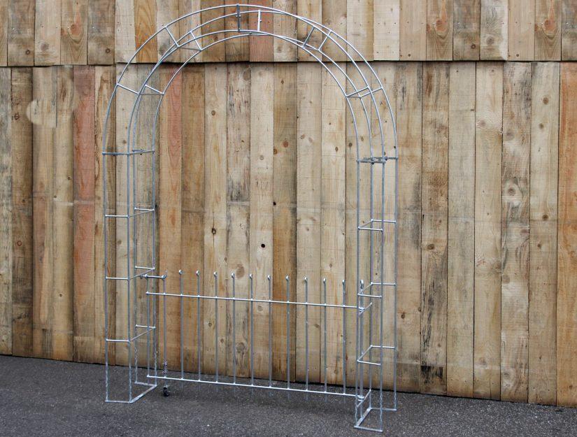 Rosenbogen mit Tür anneau 80 cm hoch verzinkt (rostet nicht).
