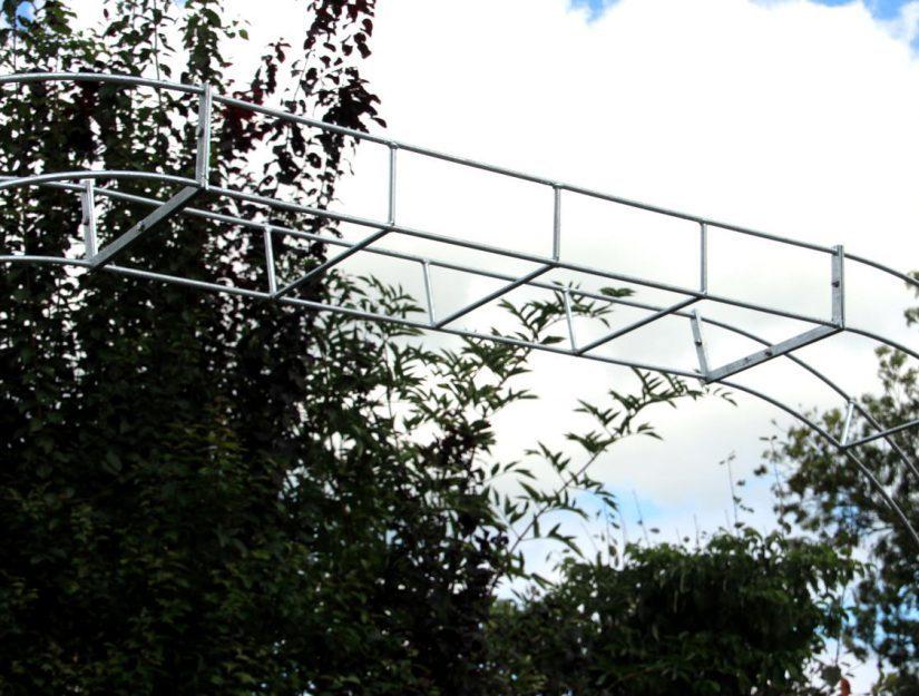 Zwischenstück für den Rosenbogen 128 cm breit verzinkt (rostet nicht).