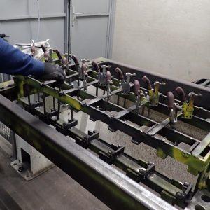 Die Schweißschablone für unsere Werkzeug- und Besenhalter