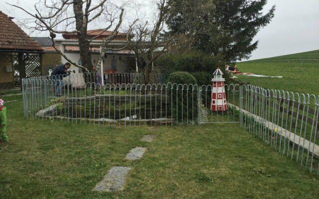 MONTAGE clôture pour étang light-Temps de montage-photos clients