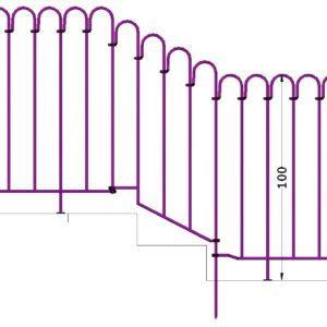 Zwischen 2 Terrassenelementen ein Bachlaufelement mit Schräge