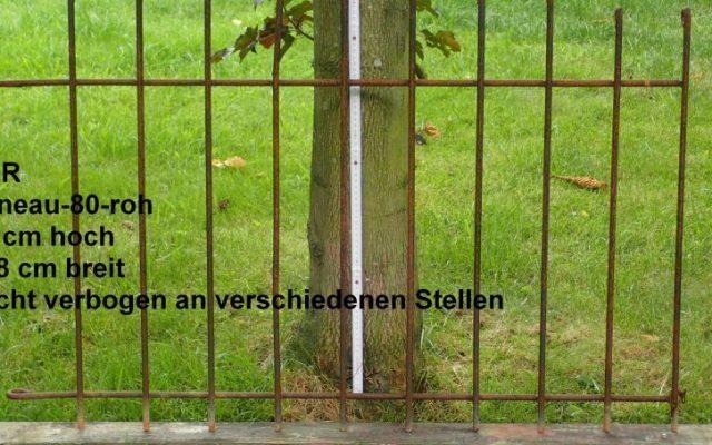 RESTPOSTEN Zaun rostig