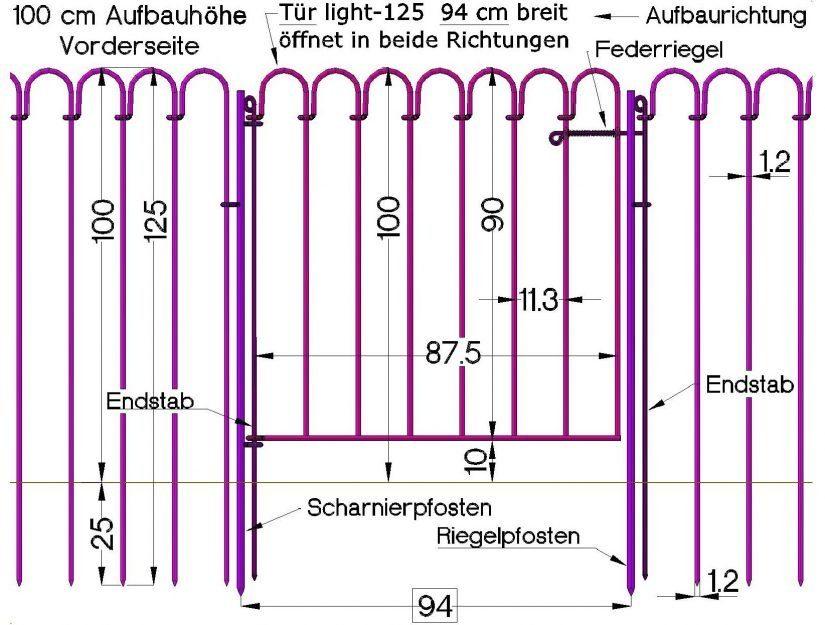 Integration der Tür im Teichzaun light.