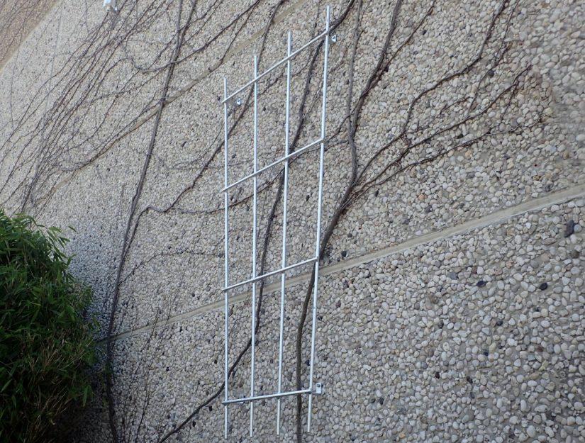 Das Rankgitter für Kletterpflanzen verzinkt (rostet nicht).