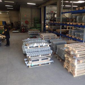 Verzinkte Zäune in unserer Werkstatt in Ost-Belgien