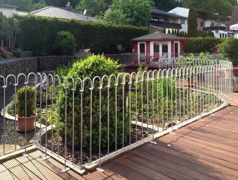 Die Breite jedes Terrassenelementes fertigen wir nach Ihren Wünschen an.