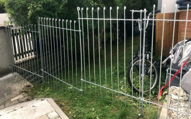 Zaun für Huskies