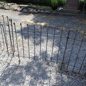 Steckzaun anneau-80-roh mit der passenden Tür 108 cm breit